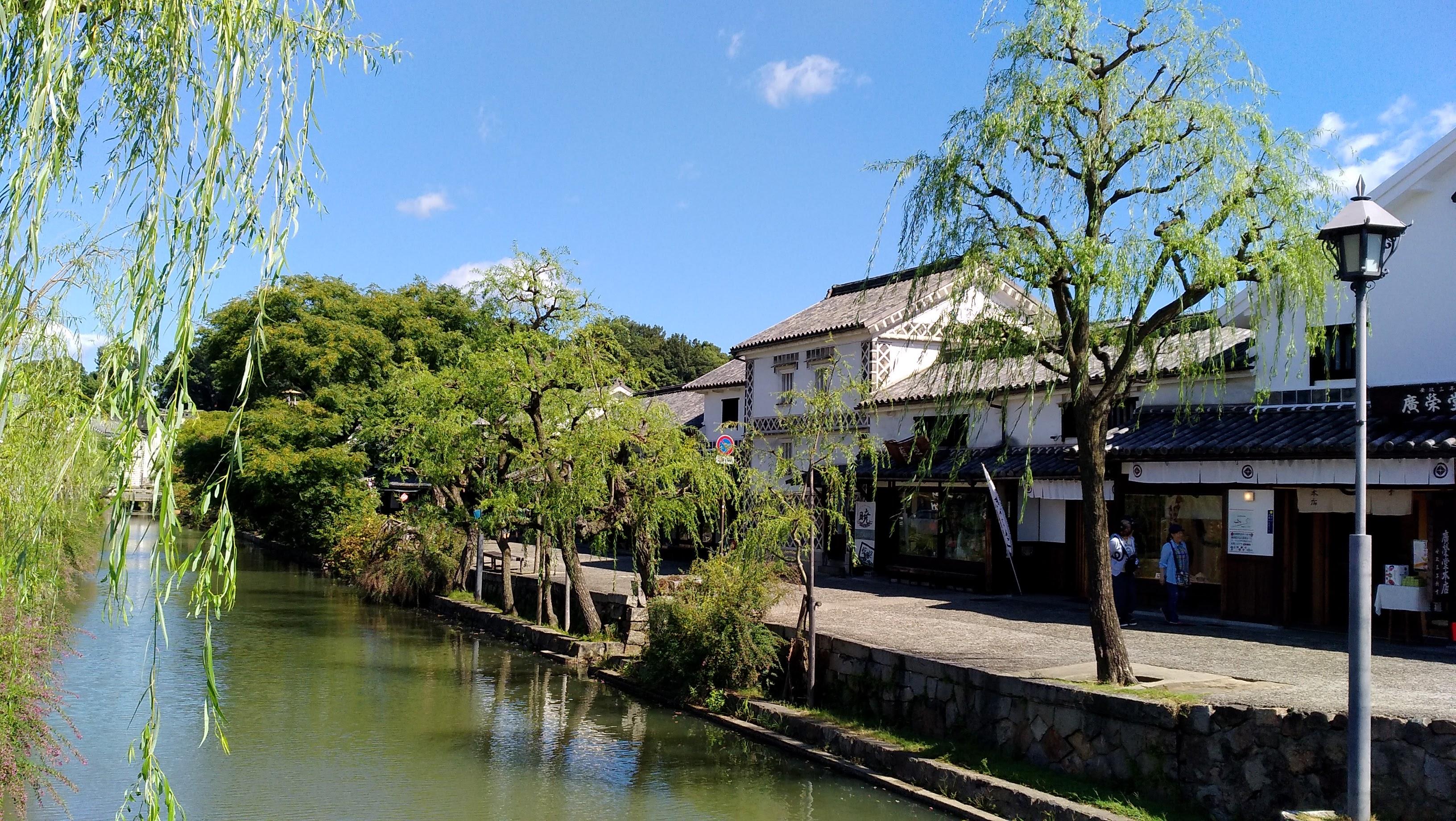 倉敷美観地区の倉敷川の景色
