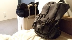 私の一人旅の荷物たち