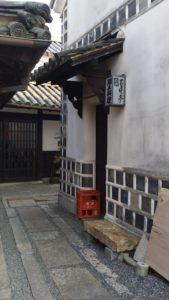 倉敷美観地区の街角