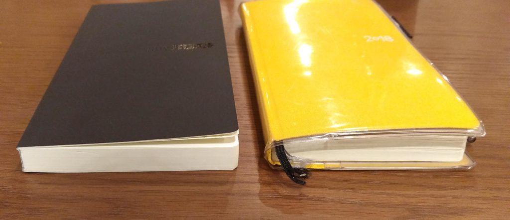 横からみたほぼ日手帳WEEKSMEGA
