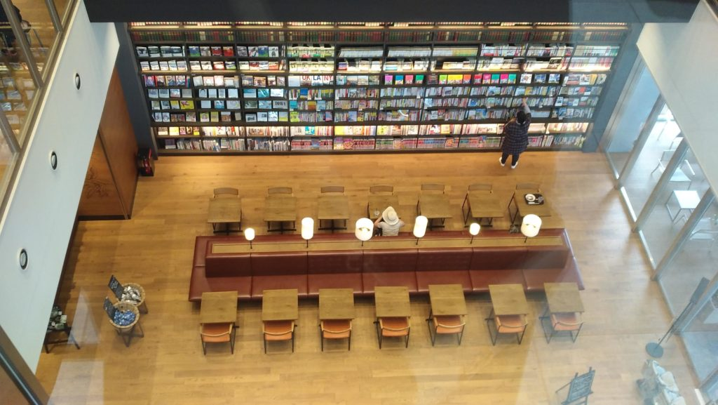 図書館3階からの眺め