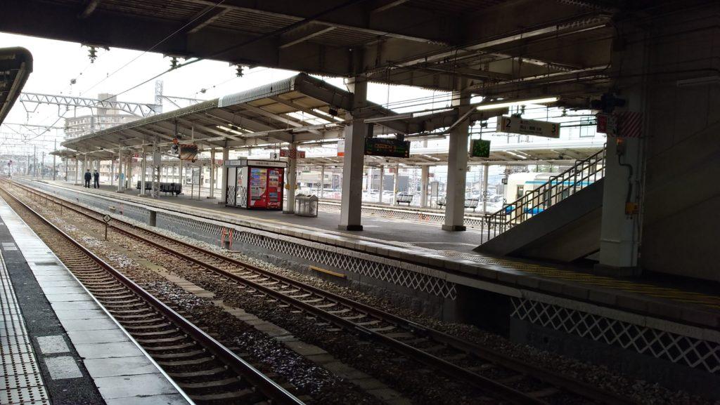 倉敷駅のホーム