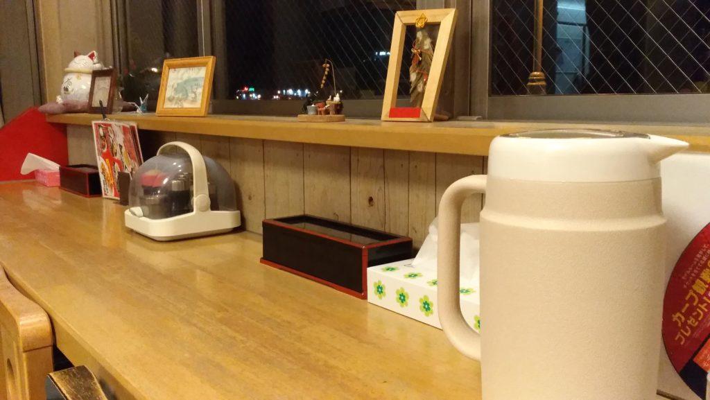 尾道ラーメン「喰海」のカウンター席