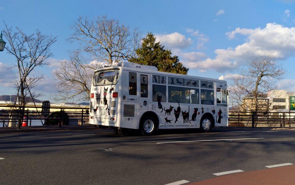 市内を走っていた可愛いバス