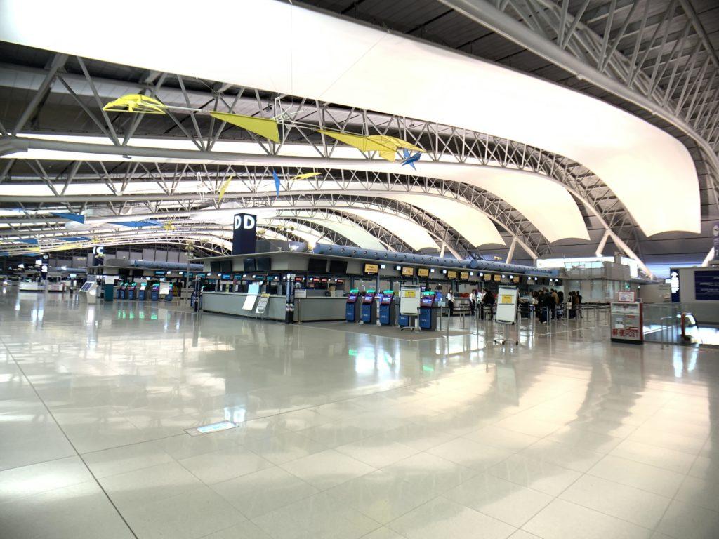 関空の第一ターミナルの様子