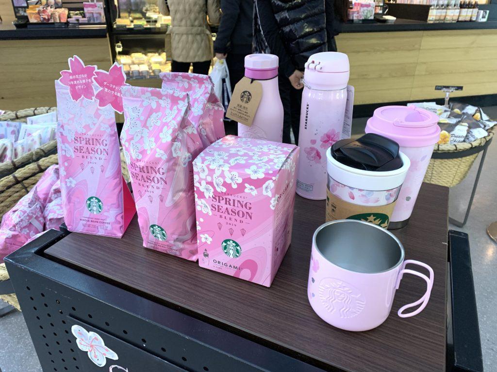スタバの桜プロモーショングッズたち