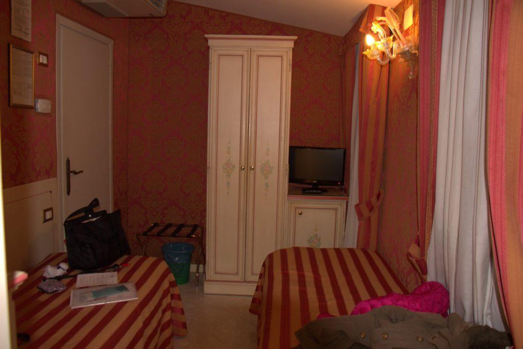 イタリア旅行のホテル内の様子